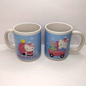 Hello Kitty Christmas Holiday Mug pair